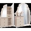 Шкаф комбинированный  «Жемчужина с зеркалом»