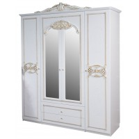 Шкаф для одежды «Розалия» (белое золото)